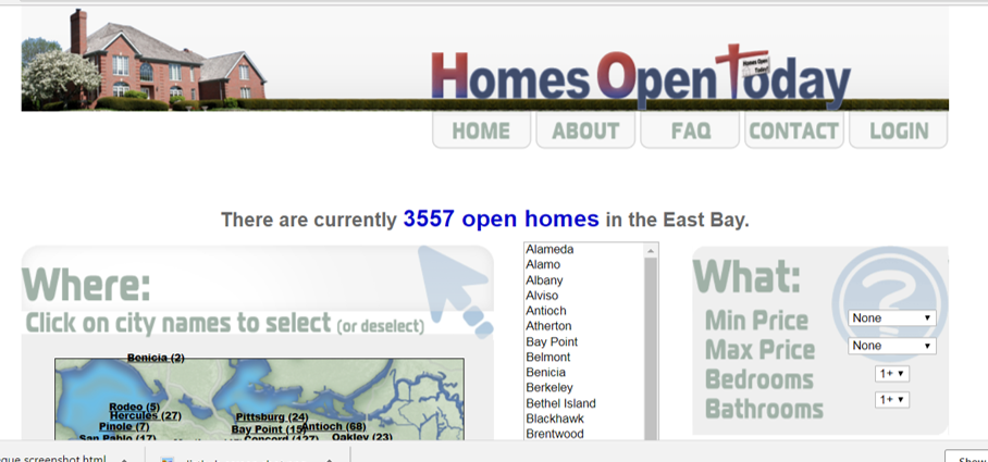 Homes Open Today Screenshot