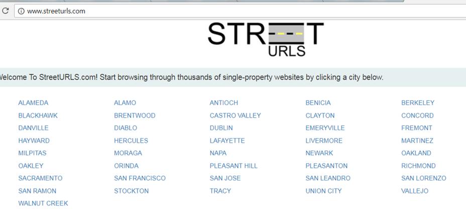 streeturls screenshot