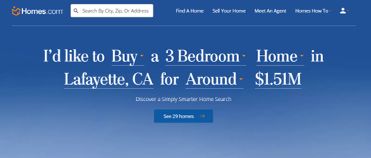 Homes.com screenshot