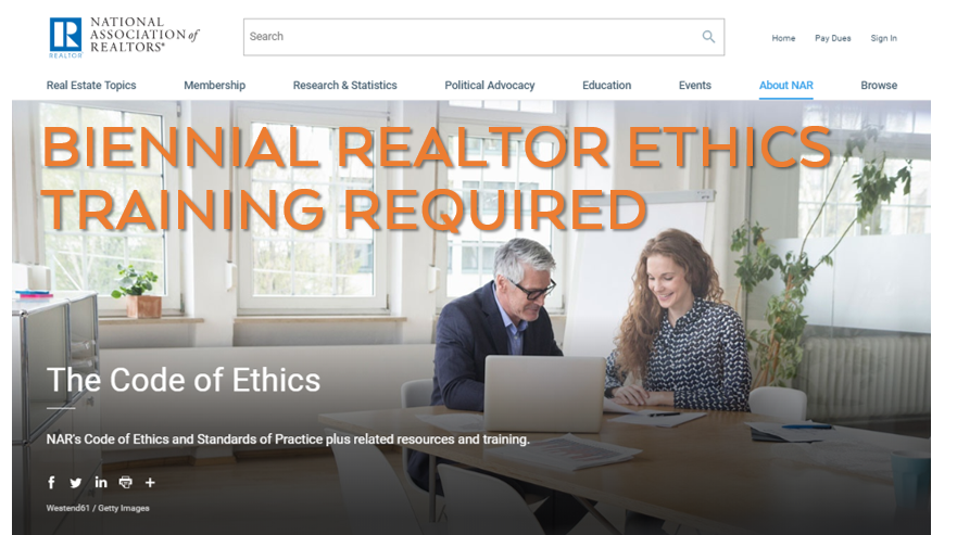 NAR Biennial realtor ethics training