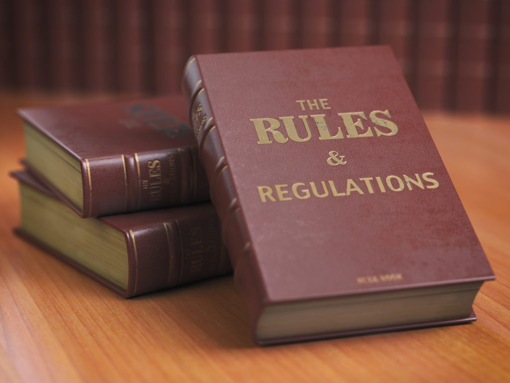 Rules an regulations book