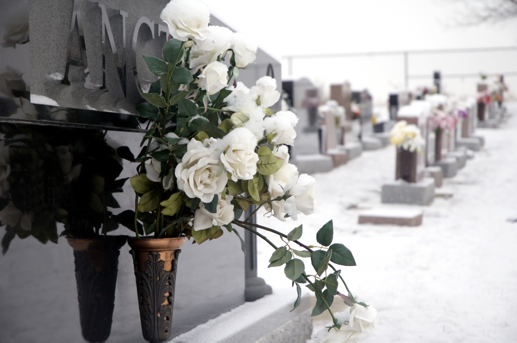 cemetery and flowers